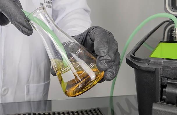 método iodométrico para a deteção do nível de ozônio